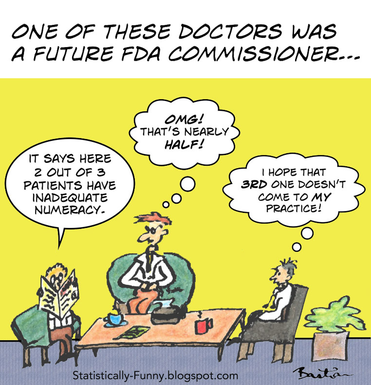Cartoon of innumerate doctors