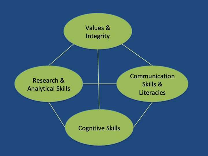 Diagram of the skills mentioned in the text above